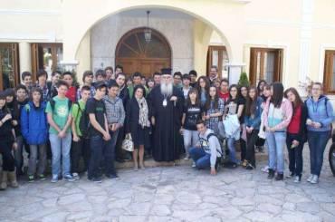 Επίσκεψη μαθητών του Γυμνασίου στον Σεβασμιώτατο